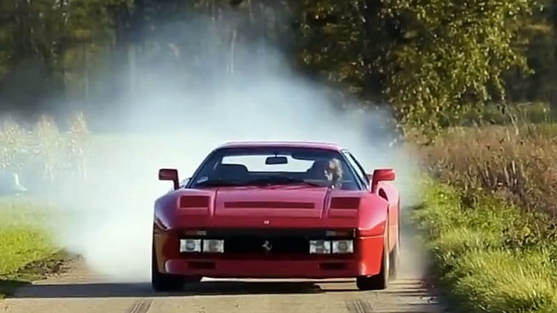 Tax The Rich returns with reckless driving in a Ferrari 288 GTO
