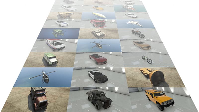 Browse every vehicle in Grand Theft Auto V