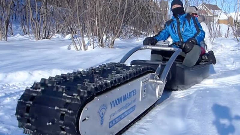 Mtt 136 Treaded Electric Sled Is Far More Awesome Than Its Name