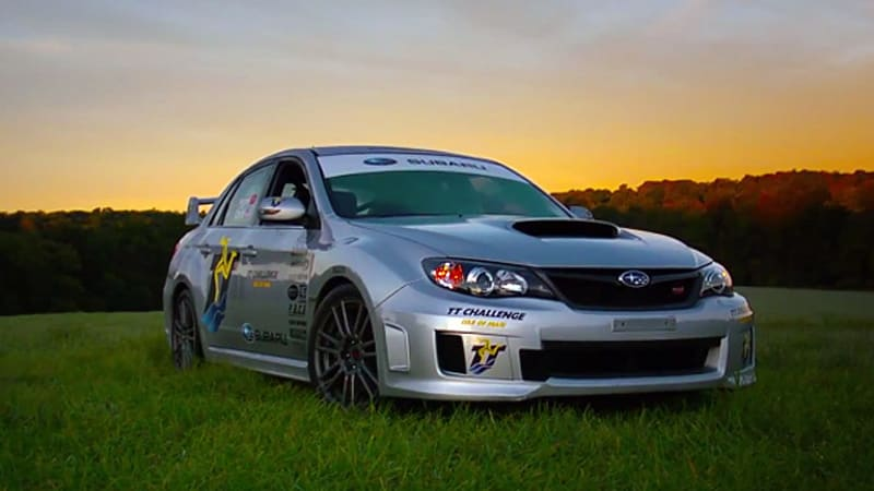 Subaru looks back on record-setting WRX STI from 2011 Isle of Man