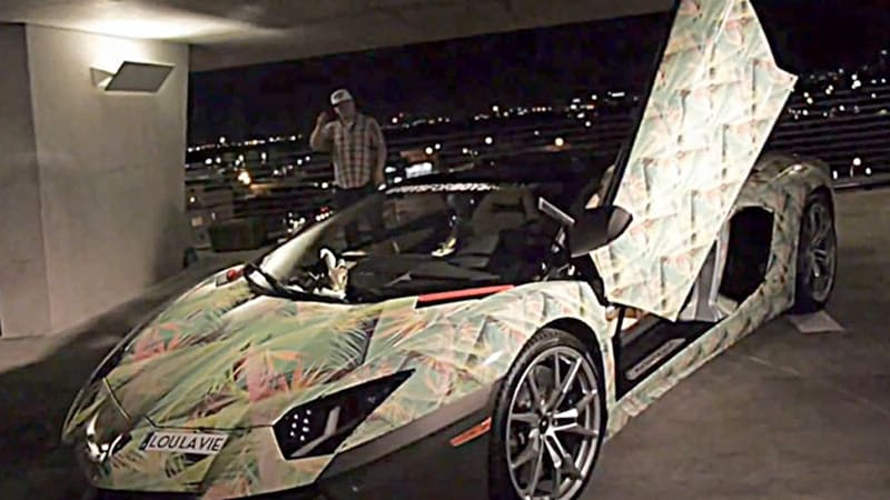 Lamborghini Aventador Goes Floral To Match Lebron S New Nikes Autoblog