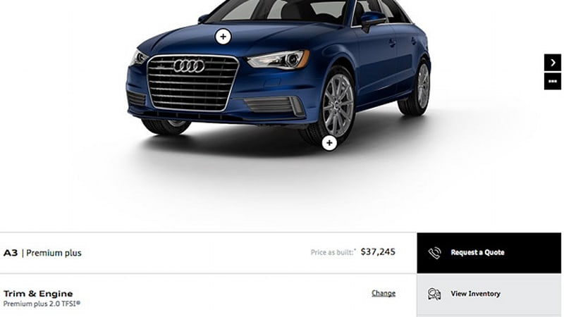 2015 audi a3 configurator is up and running autoblog. Black Bedroom Furniture Sets. Home Design Ideas