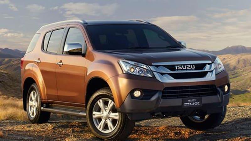 Isuzu MU-X SUV is a Chevy Trailblazer in drag [w/videos