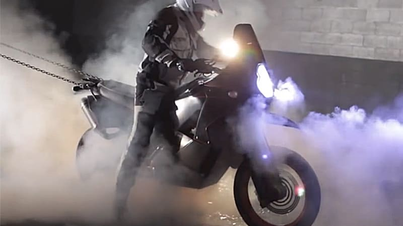 Is this the world's first two-wheel-drive motorcycle burnout