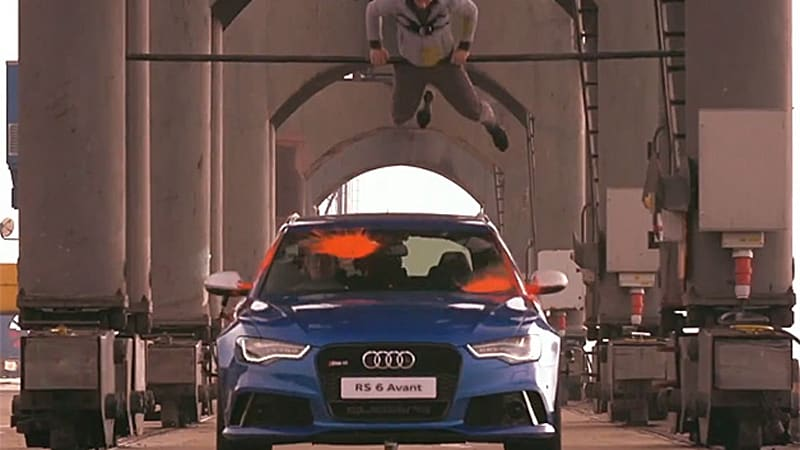 Audi RS6 driven by former Stig Ben Collins egged on in 'The Duel'