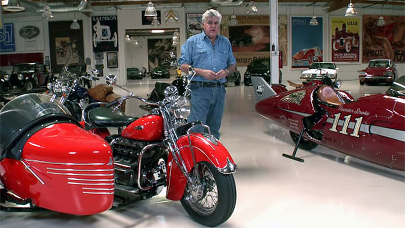Jay Leno spends time with Indian motorcycles new and old