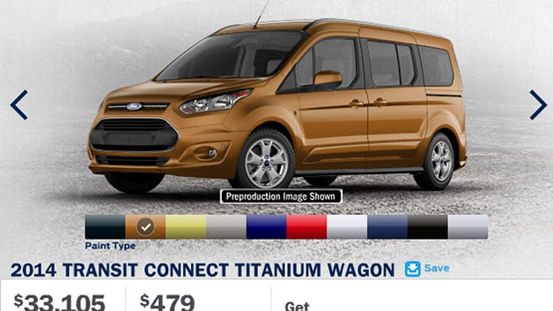 The second-generation Ford Transit Connect is almost upon us and to get work- and family-oriented customers ready for the new model Ford has launched a ... & 2014 Ford Transit Connect configurator fires up for the whole ... markmcfarlin.com