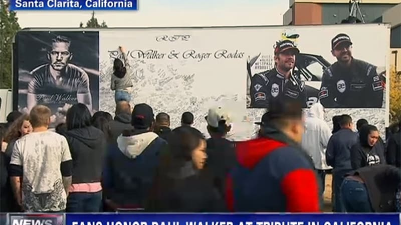 Thousands gather for Paul Walker memorial in Santa Clarita