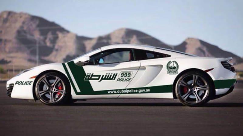 McLaren MP4-12C joins Dubai police force