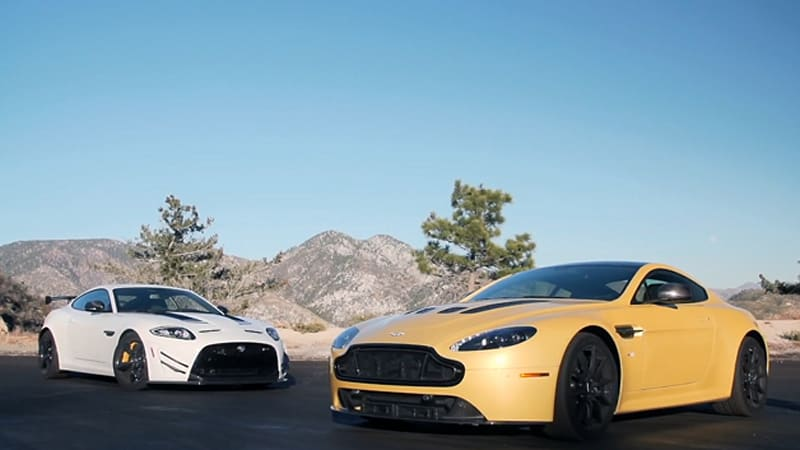 Motor Trend pits Aston V12 Vantage S against Jaguar XKR-S GT in battle of the Brits