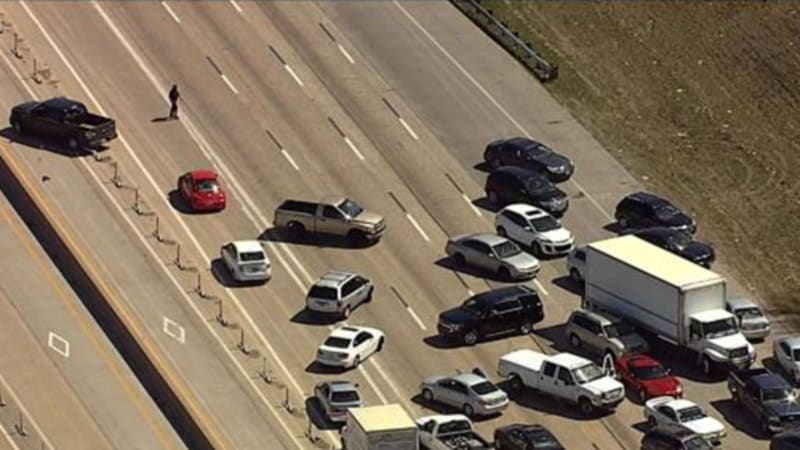 Motorists Try To Drive Wrong Way Down Interstate To Escape