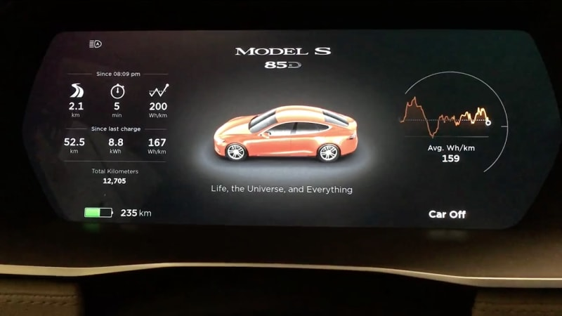 New Tesla Easter Egg reveals the secret of life   Autoblog