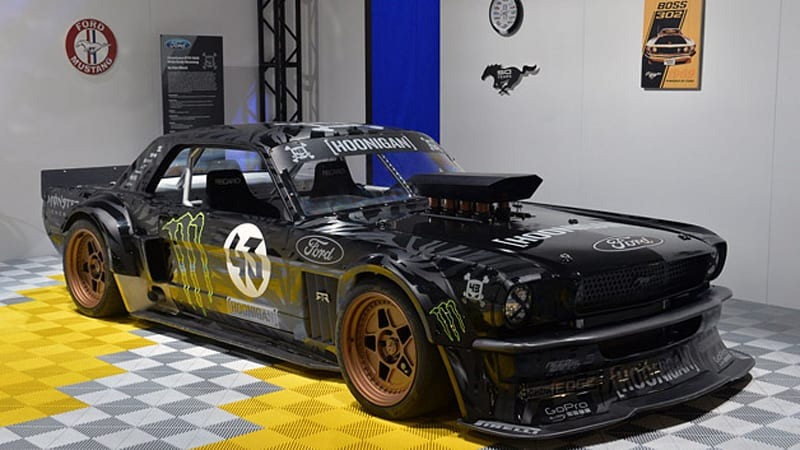 ken block 39 s 1965 ford mustang hoonicorn rtr and cr supercars villain are retro done right autoblog. Black Bedroom Furniture Sets. Home Design Ideas