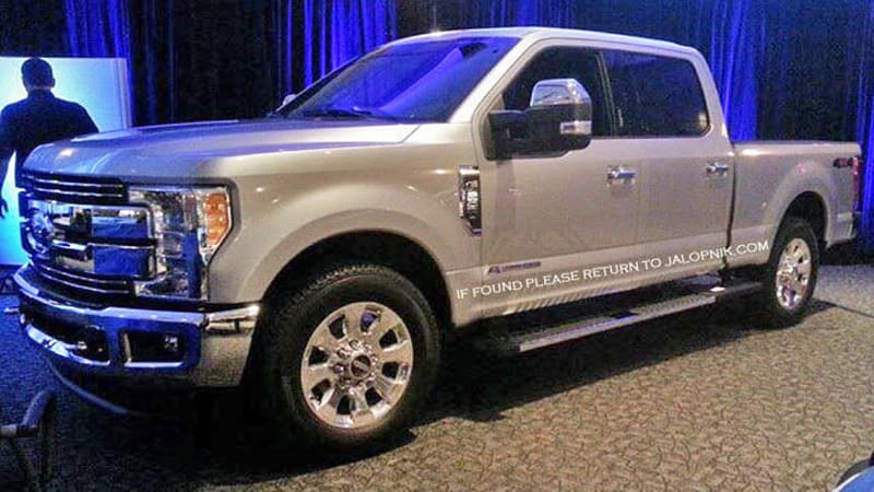 Is This The 2017 Ford F 250 And Its All New Aluminum Body Autoblog