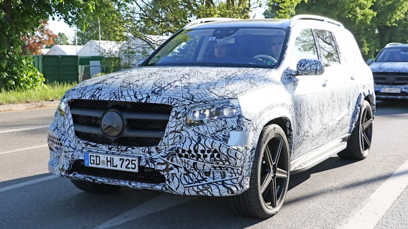 Once Again A Mercedes Benz Crossover Suv Has Been Spied With Less Camouflage But This Time It S The Company Large Flagship Gls Cl