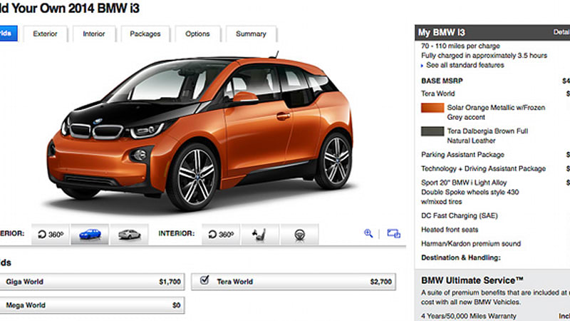 Bmw I3 Configurator Is So Advanced It S Replaced Trim Levels