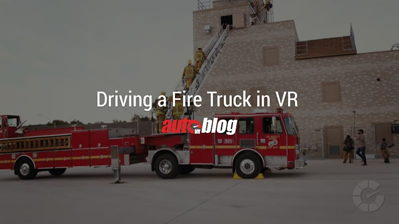 Driving a Fire Truck in Virtual Reality | AutoblogVR