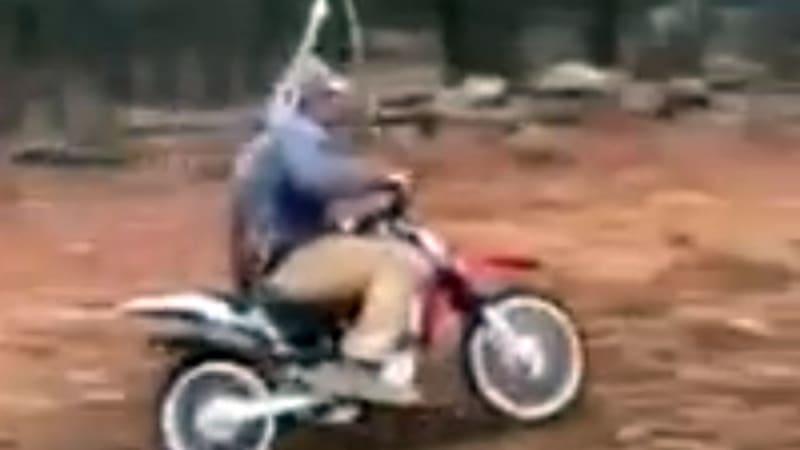 Innovative dad creates dangerously impressive motocross swing