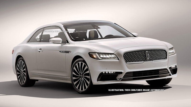 2017 lincoln continental reimagined as a coupe autoblog. Black Bedroom Furniture Sets. Home Design Ideas