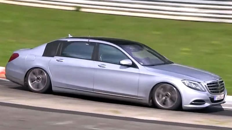 Mercedes s class maybach spotted on the 39 ring autoblog for How much is a 2014 mercedes benz s550