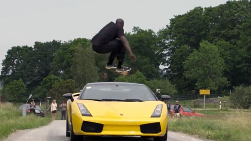 Swedish man bests Kobe Bryant by jumping speeding Lambo