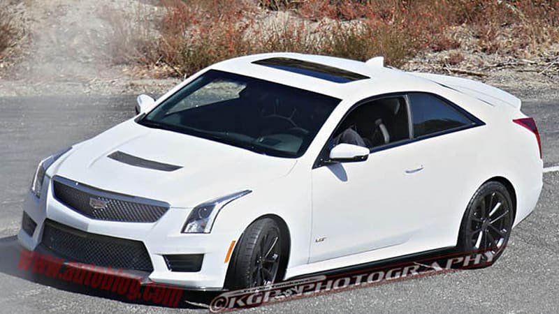 cadillac ats v coupe caught undisguised ahead of la reveal autoblog. Black Bedroom Furniture Sets. Home Design Ideas