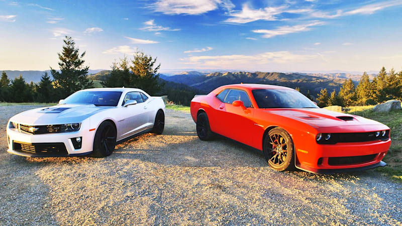 Dodge Challenger Srt Hellcat Vs Chevrolet Camaro Zl1 In Latest Head