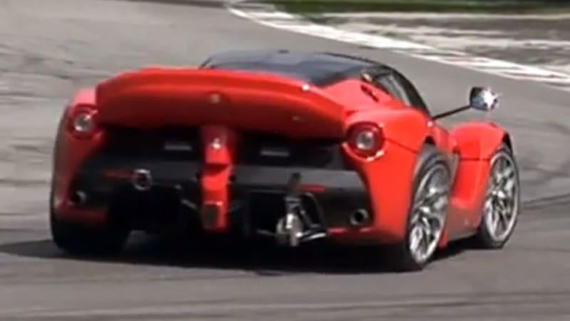 LaFerrari XX prototype pushed so hard that its suspension fails
