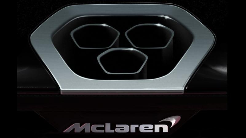McLaren confirms BP23 supercar with exhaust teaser shot