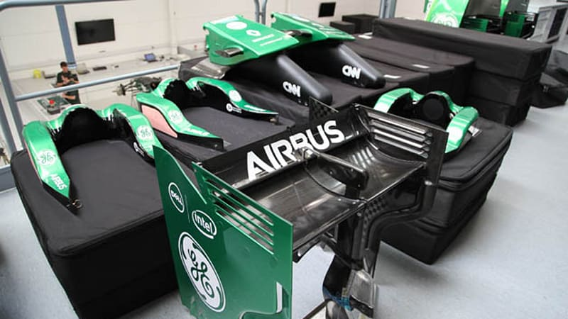 Caterham F1 manufacturer files for bankruptcy