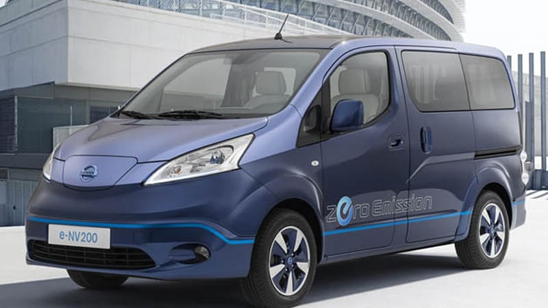 nissan touts e nv200 as electric vip transport autoblog. Black Bedroom Furniture Sets. Home Design Ideas