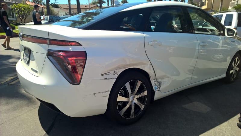 First Toyota Mirai hydrogen fuel cell crash in US