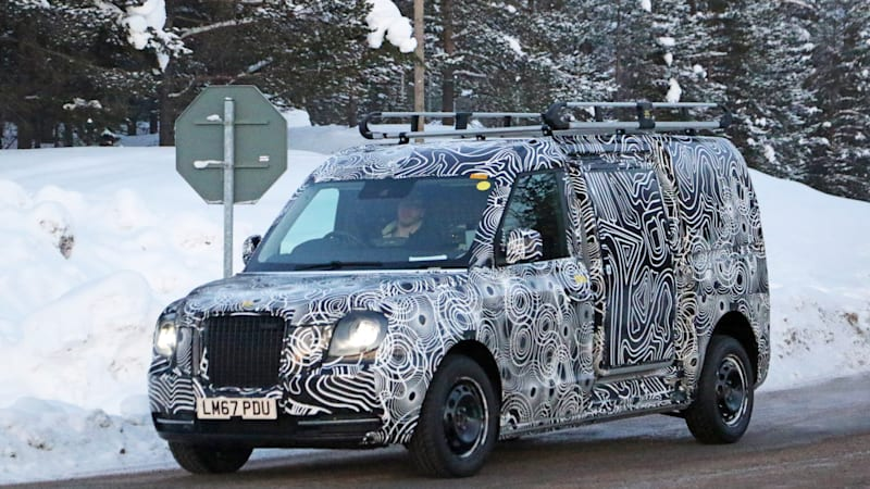 Electric London Taxi's van version spied winter testing