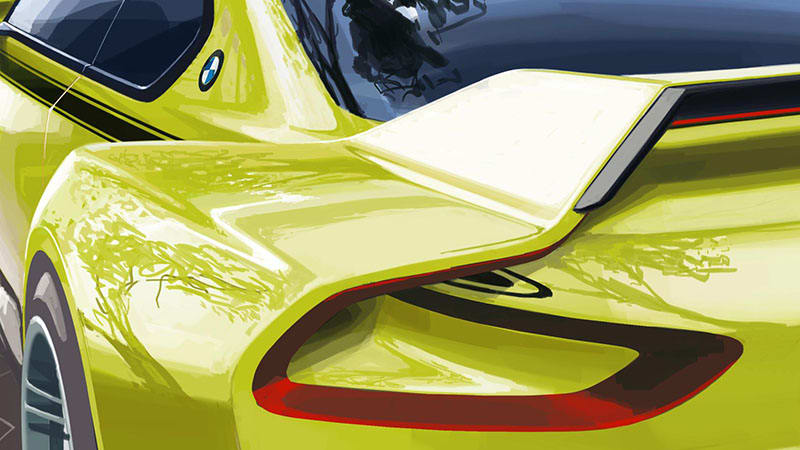 BMW teases 3.0 CSL Hommage concept