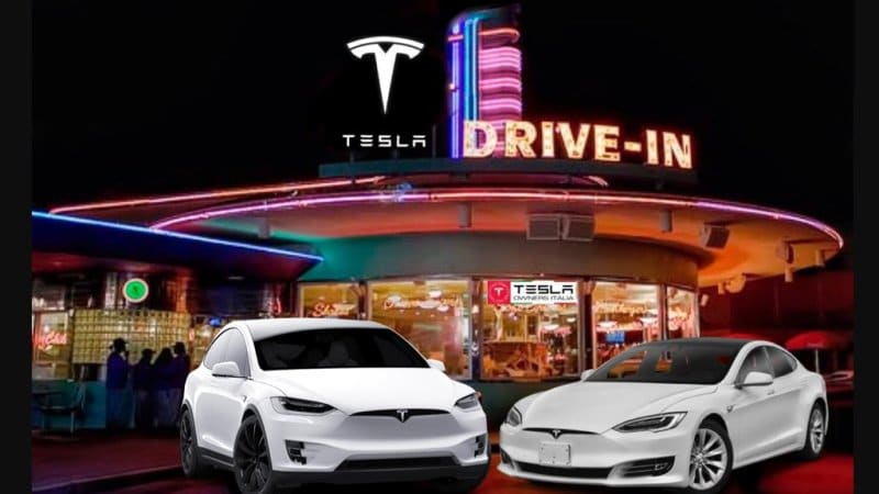 photo image Tesla files permits for L.A. Supercharger drive-in restaurant