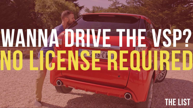 photo image Driving a car that requires no license | The List #0425