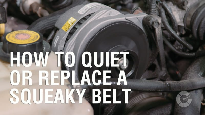 How To Quiet Or Replace A Squeaky Belt | Autoblog Wrenched