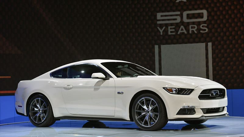 2015 ford mustang 50 year limited edition pays homage to 1964 autoblog. Black Bedroom Furniture Sets. Home Design Ideas
