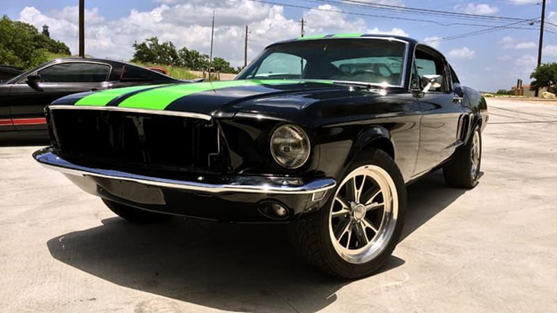 Black zombie electric mustang launches blood shed motors wvideos as patient zero of blood shed motors the classic pony car has received a powerful electric transplant malvernweather