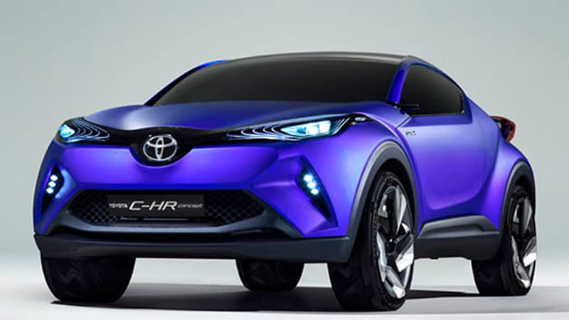toyota c hr hybrid crossover coupe concept leak ahead of paris autoblog. Black Bedroom Furniture Sets. Home Design Ideas
