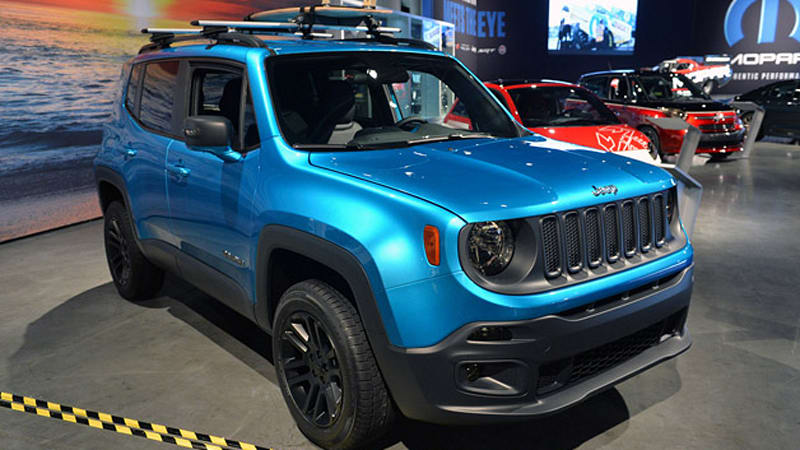 jeep renegade gets riptide and frostbite customs at sema autoblog. Black Bedroom Furniture Sets. Home Design Ideas