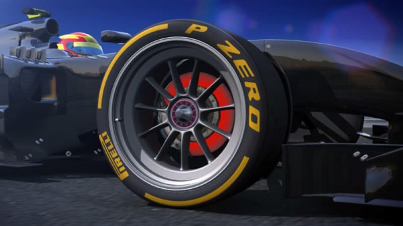 pirelli testing low profile tires for 18 inch formula one wheels autoblog. Black Bedroom Furniture Sets. Home Design Ideas