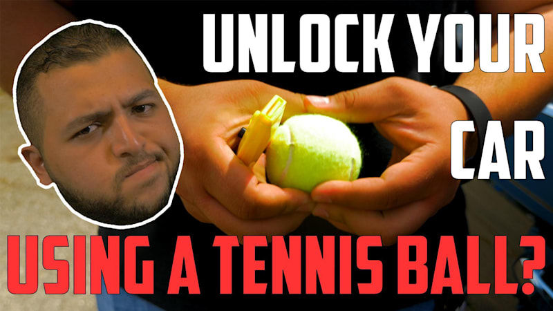 Unlocking Your Car Door Using A Tennis Ball Car Hacks