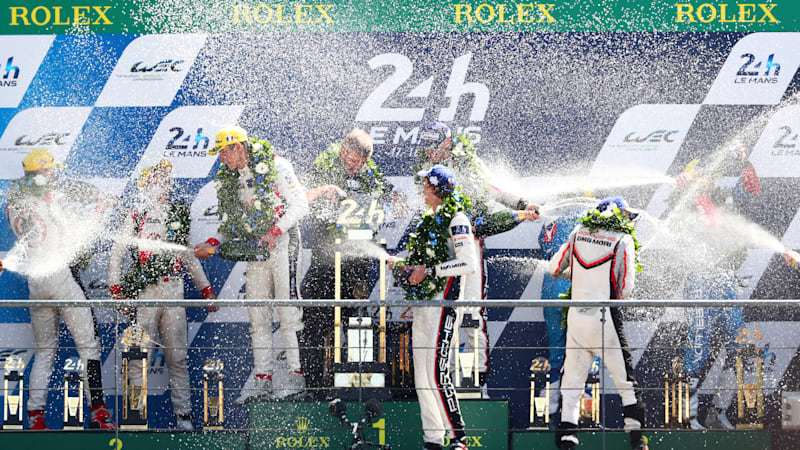 Porsche earns stunning come-from-way-behind Le Mans victory