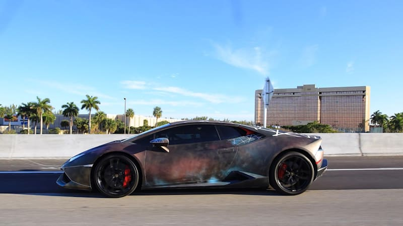 Artist gives Lamborghini Huracan fierce rattle-can paint job | Autoblog