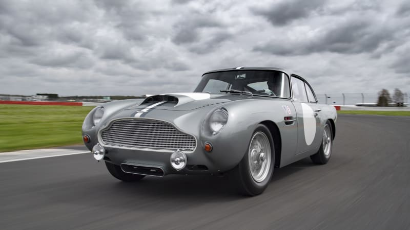 Continuation Aston Martin DB4 GTs unleashed at Silverstone track day