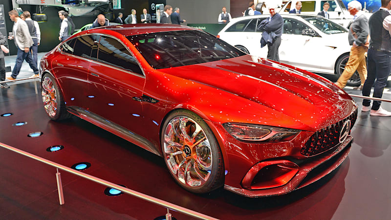 mercedes amg gt concept has 805 hybrid horses and four. Black Bedroom Furniture Sets. Home Design Ideas