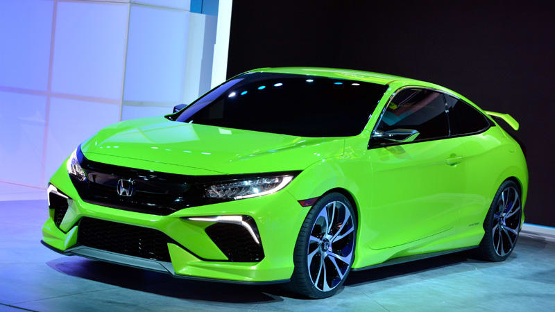 Recalls Honda Com >> Honda Civic Concept is your average neon green, turbocharged show stealer [w/video] - Autoblog