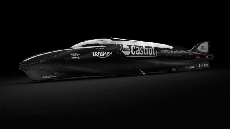guy martin and triumph aim for 400 mph at bonneville - autoblog