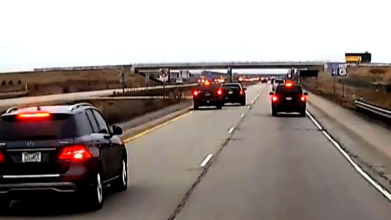 brake checking crash that went viral under investigation